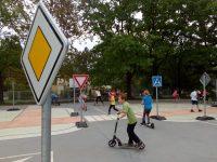 Dopravní výchova na hřišti naší školy